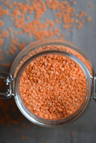 Lentejas rojas receta