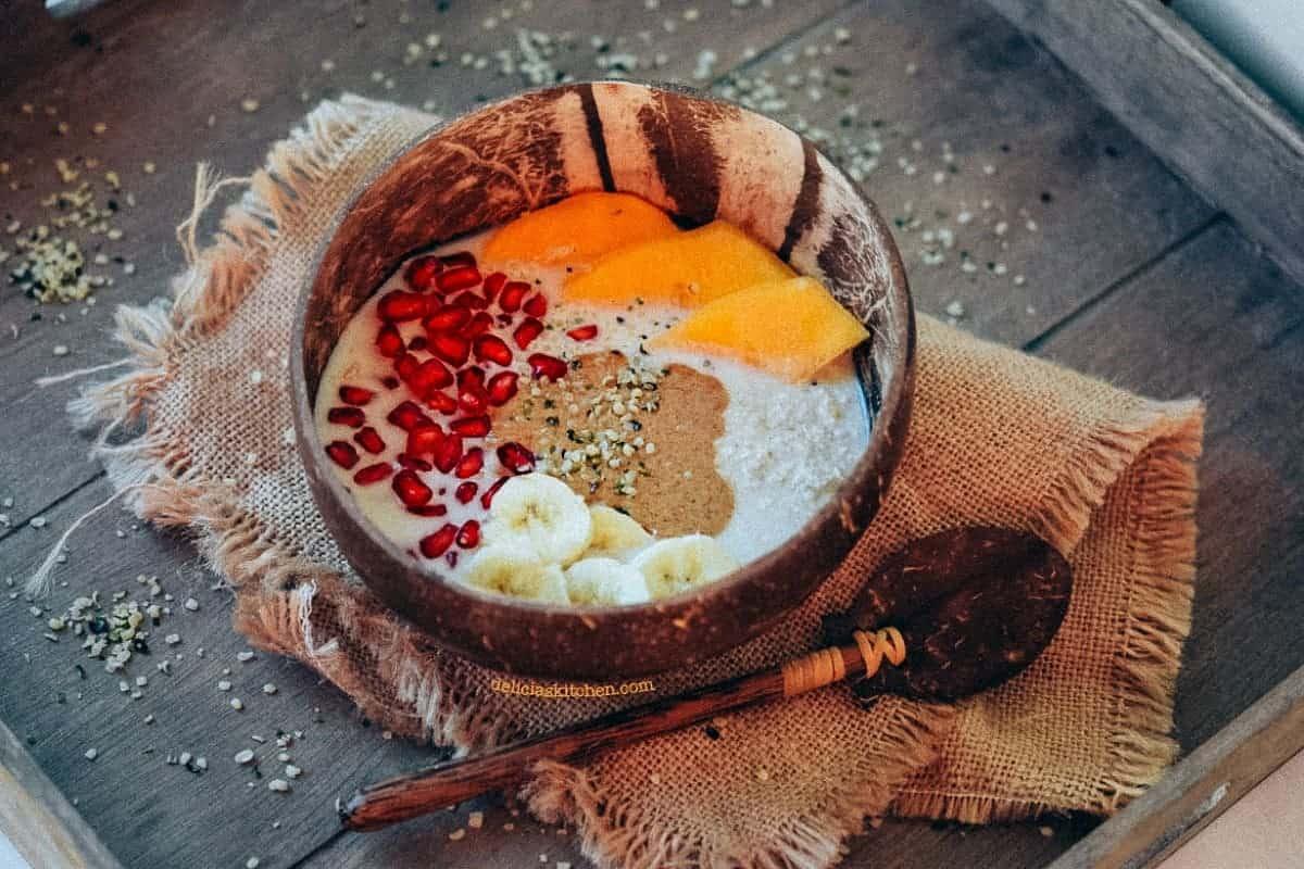 Desayuno con copos de Teff