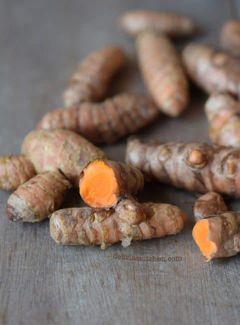 Quinoa con garbanzos y cúrcuma