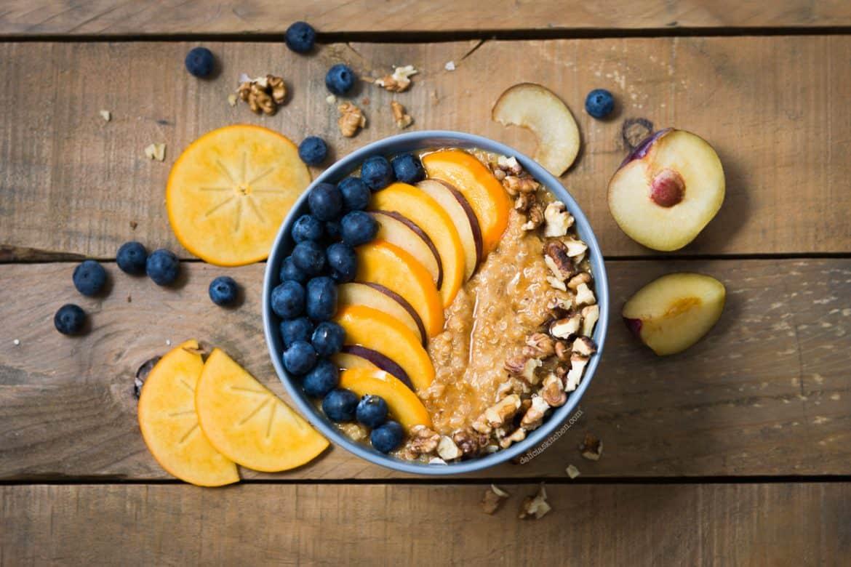 Porridge de quinoa y calabaza