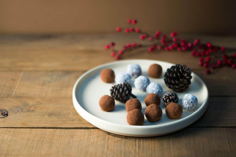 Bolitas de cacao, calabaza y jengibre