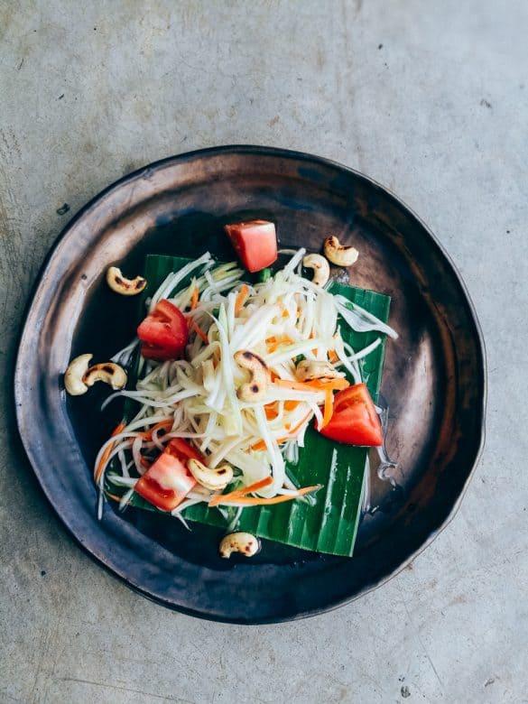 Ensalada de papaya verde