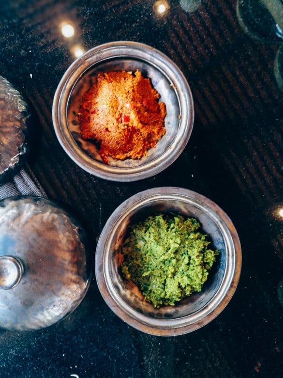 Pasta de curry roja y verde