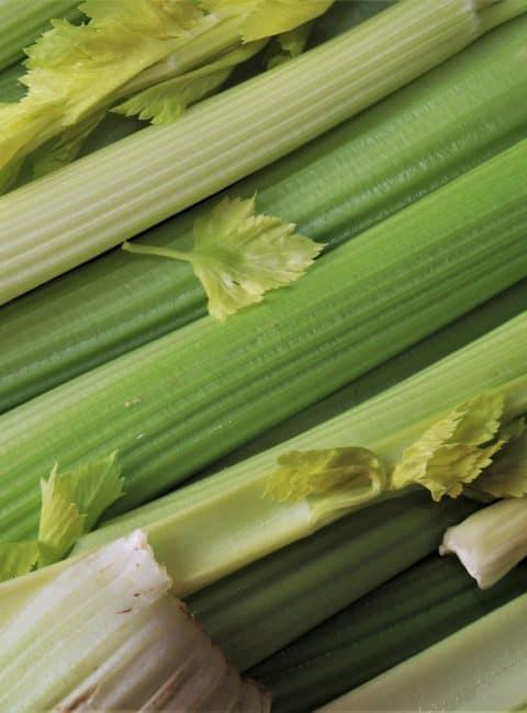 Batido verde detox con apio, pera y aguacate