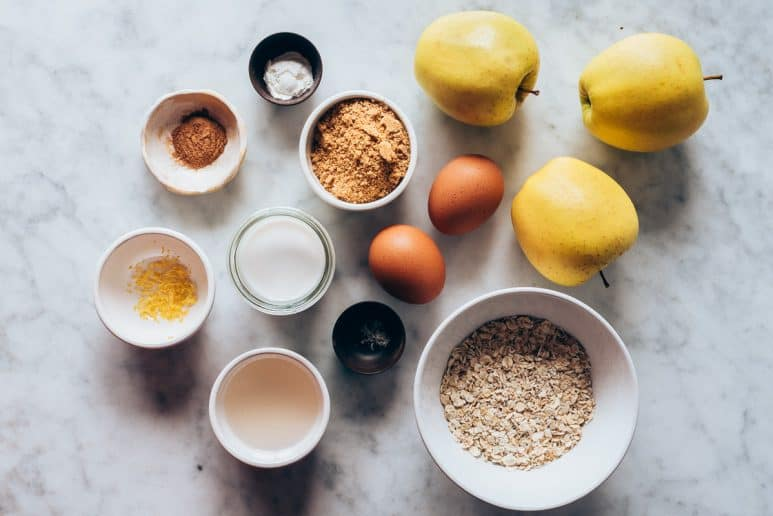 Ingredientes tarta de manzana jugosa
