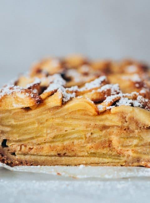 Tarta de manzana fácil y jugosa