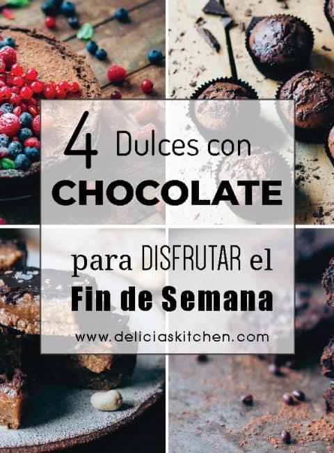 4 dulces con chocolate para disfrutar este fin de semana