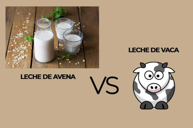 leche de avena versus leche de vaca