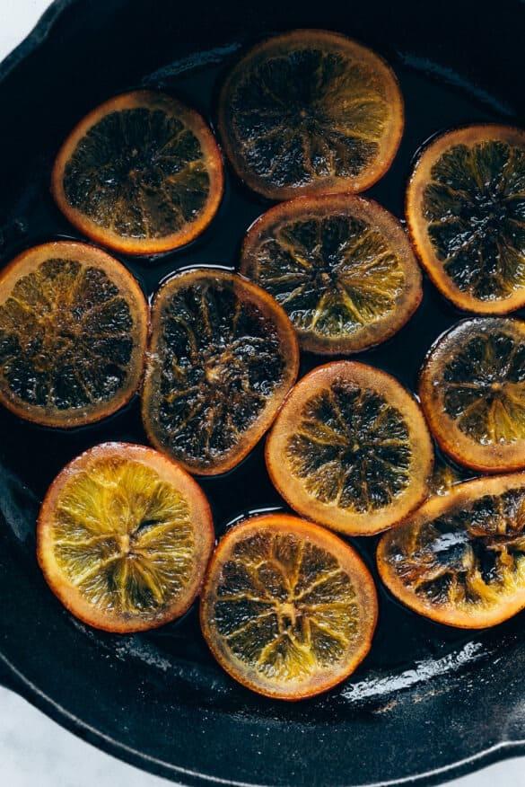 Naranjas ya confitadas