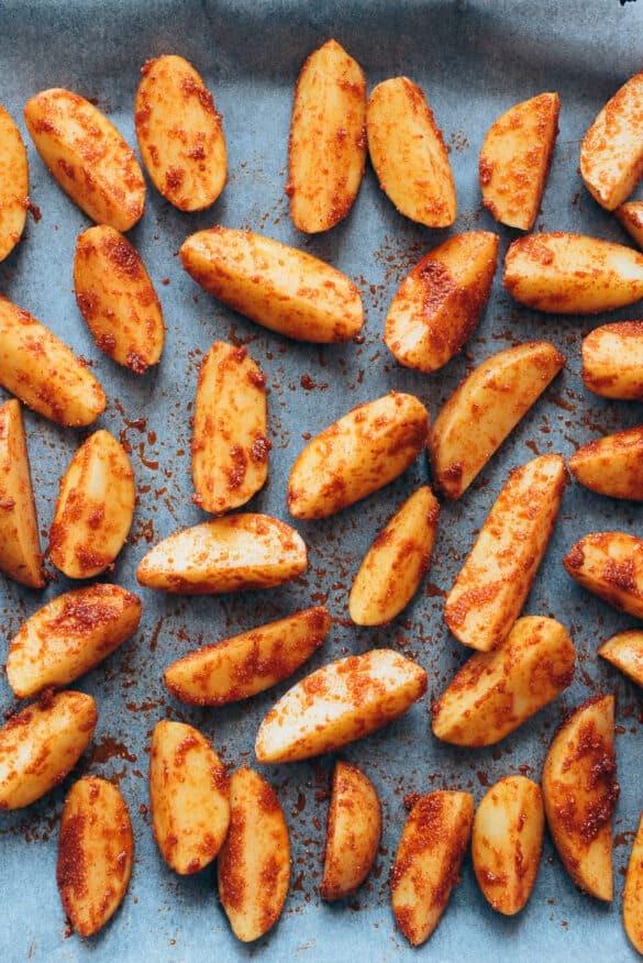 Patatas deluxe antes de hornear
