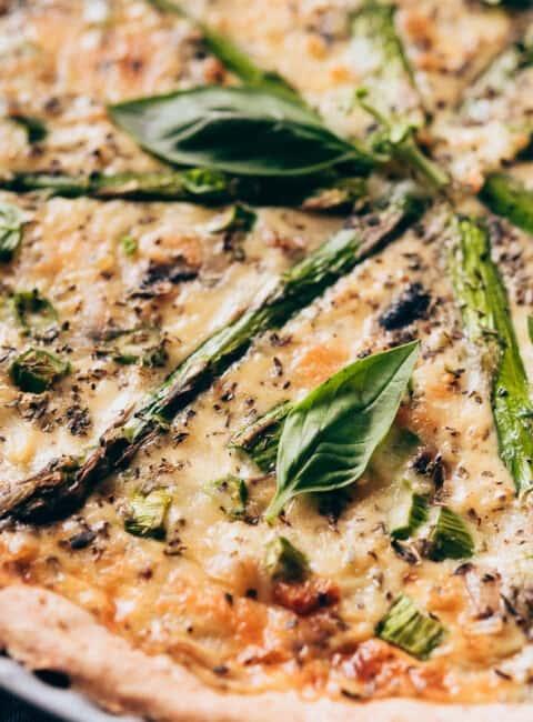 Quiche de verduras con masa casera de espelta
