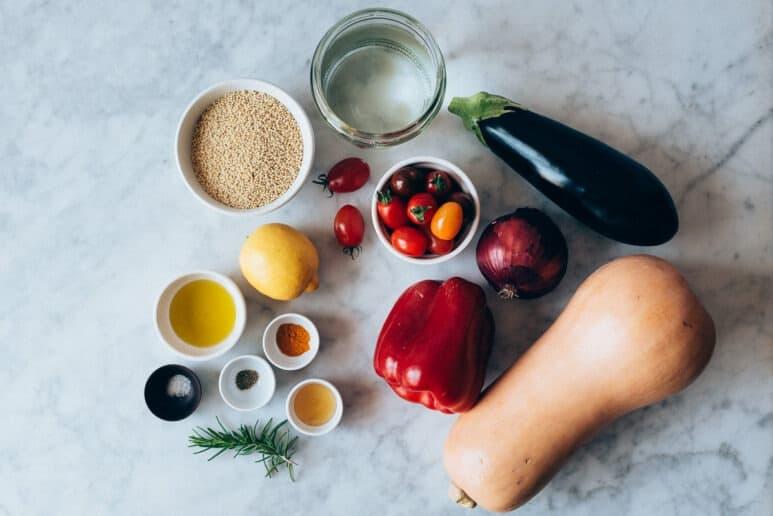 Ingredientes mijo con verduras
