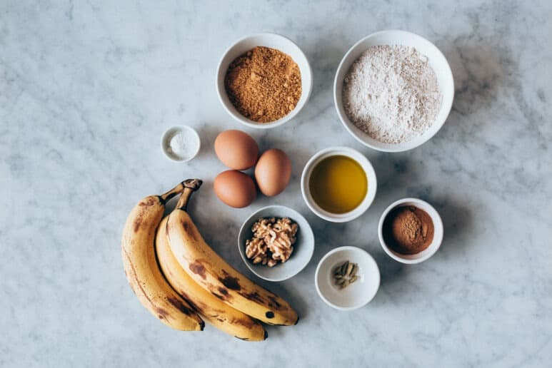 Ingredientes pan de platano