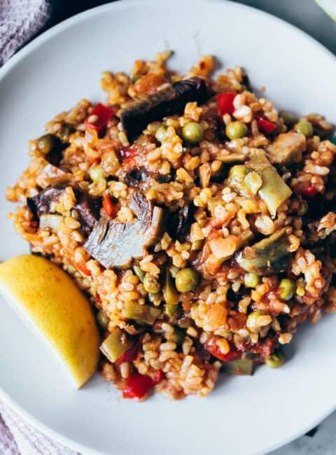 Cómo hacer paella de verduras