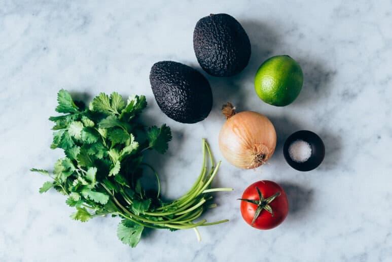 Ingredientes guacamole tradicional