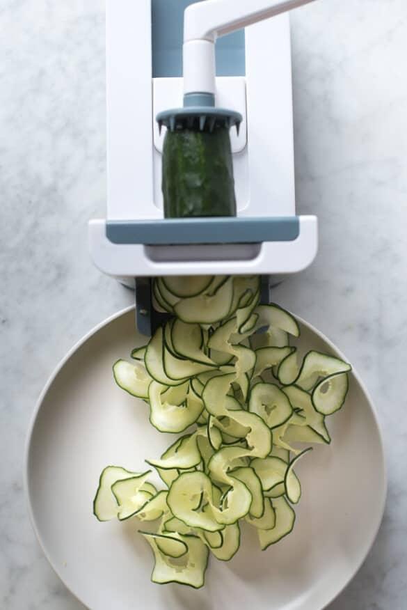 Laminando el pepino con la Spirali