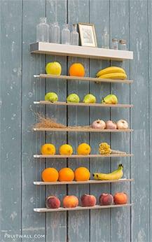 Frutero de diseño para ganar espacio en tu cocina.